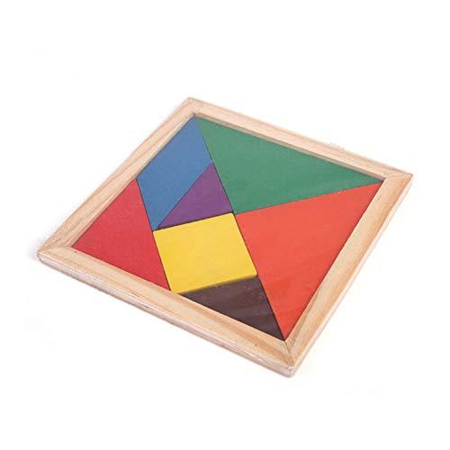 bulingbuling Puzzle Juego De Entrenamiento Cerebral De Madera Geometría Junta Tangram Tangram De Madera del Rompecabezas De Tetris Rompecabezas Madera Niños Puzzle Box