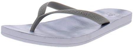 Reef Womens Escape Lux Sandals Slip On Flip-Flops, Grey, Size 9.0