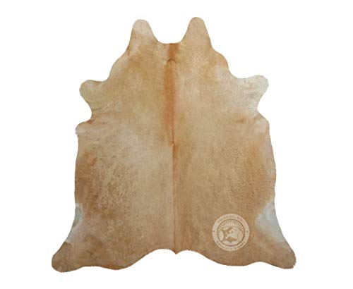 Teppich aus Kuhfell, Farbe: beige, Größe 220 x 200 cm, Premium - Qualität von Pieles del Sol aus Spanien