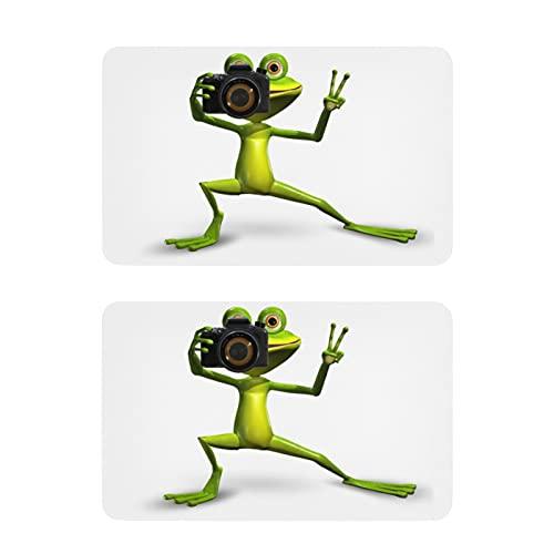 Imanes de nevera con texto en inglés 'Merry Green Frog Camera Funny Frigorífico Art Imanes Decorativos tag1 2