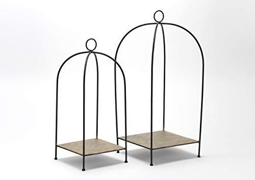 Amadeus - Set de 2 Porte-Plantes Noir et Or en métal Arcade