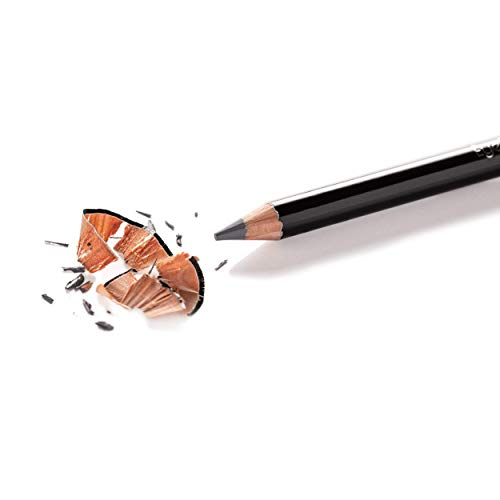 Eye Embrace Light Gray Wooden Eyebrow Pencil: Warm Betty Classic – Waterproof, Double-Ended Pencil with Sharpener & Spoolie Brush, Cruelty-Free
