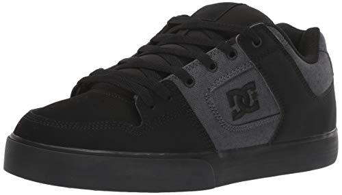DC Men's Pure TX SE Skate Shoe, Black, 12 M US