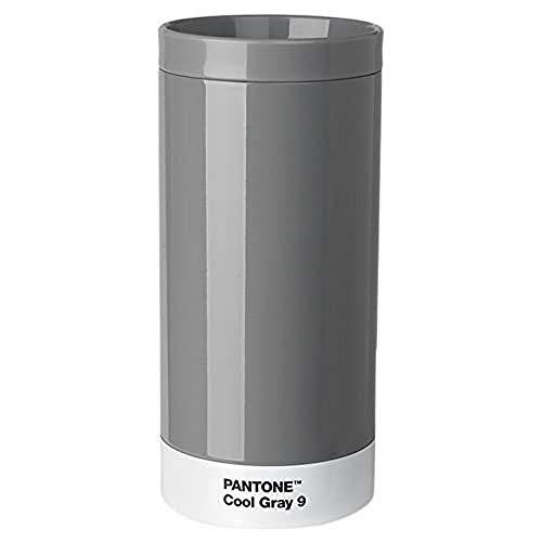 Pantone Reisebecher, Edelstahl, ABS, Cool Gray 9, 7.5 x 7.5 x 16.4 cm