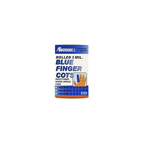 Afassco 5016 Large Blue Finger Cots – 144 / BX