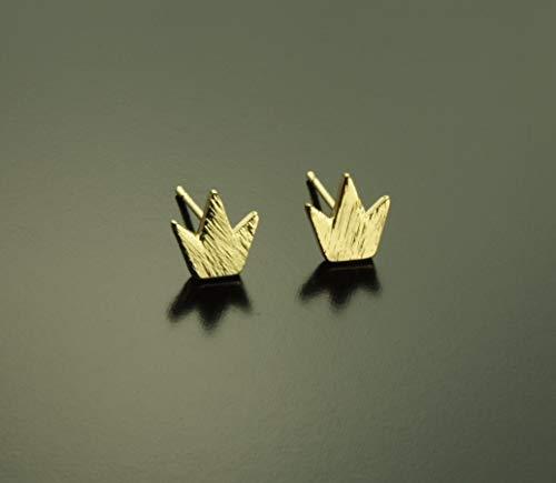 Ohrstecker Krone König Prinzessin Prinz Stecker golden Ohrringe
