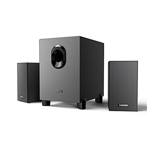 OROROW 2.1 USB-Powered Desktop Speakers with Subwoofer,16W Laptop &Computer Speaker Great for Music, Movies, Multimedia Pcs, Player, Laptops and Gaming Systems