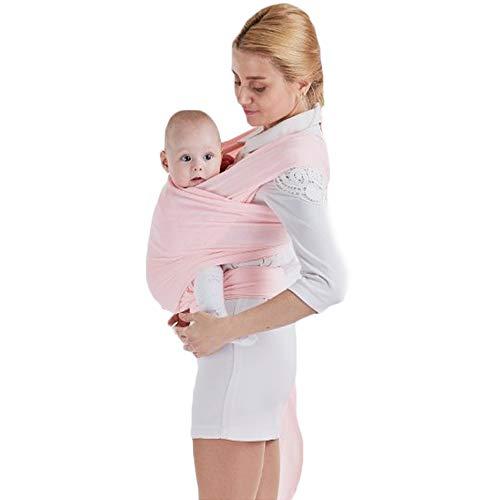 Sac à dos Porte Bébé CuddleBug pour Enfant Nouveau-né, Echarpe de Portage Pour Transporter le Bébé (rose)