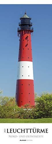 Leuchttürme - Nord- und Ostseeküste 2021 - Streifenkalender XXL 25x69 cm - Lighthouses - Bild-Kalender - Wand-Kalender - Alpha Edition