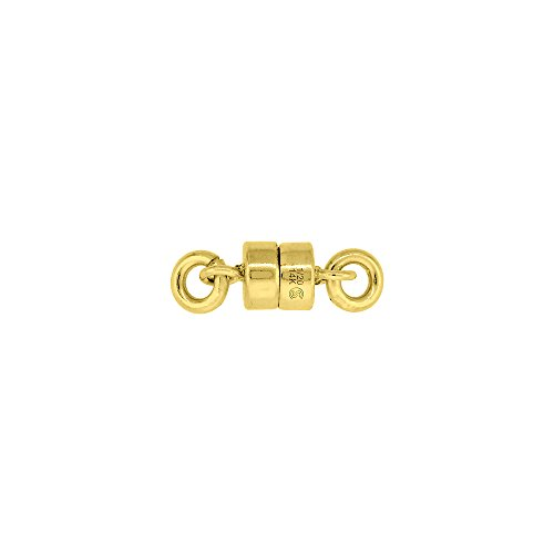 14k Gold-Filled 4 mm Magnetic Clasp for Light Necklaces USA, Square Edge