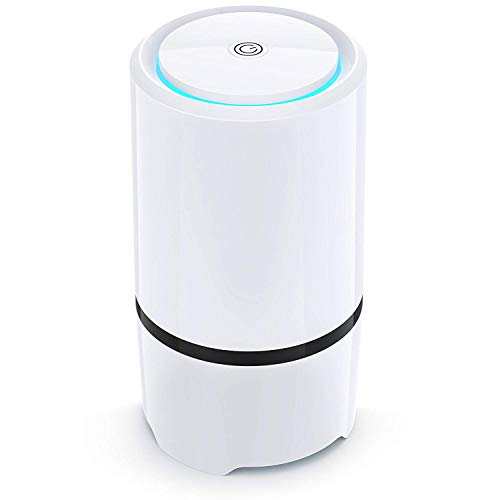 Net-Dyn Air Purifier - USB Air Filter, HEPA Filtration and Small Personal Desktop Home Air Cleaner for Eliminating Harmful Allergens, Bacteria, Allergies and Pets