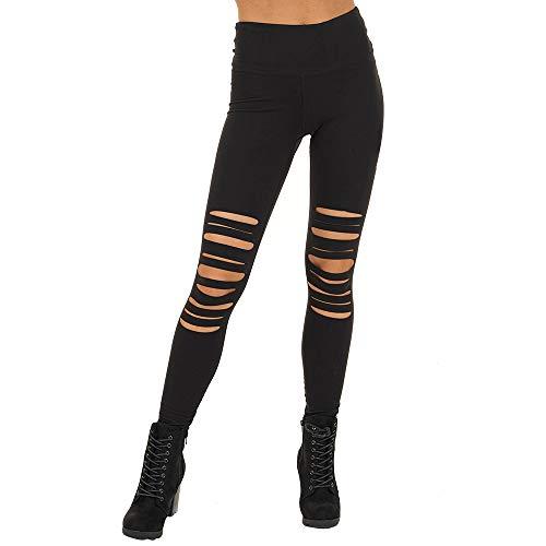 Vertvie dames jeansbroek hoge taille broek met gaten Cropped Stretchy Skinny Ripped leggings joggingbroek potloodbroek broek broek sportswear streetbroek