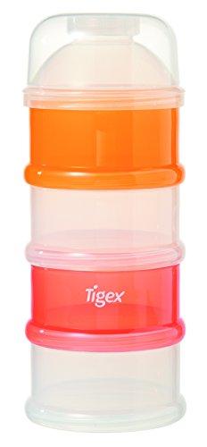 Tigex Dosificador de leche en polvo envase, Naranja, Blanco y Rojo