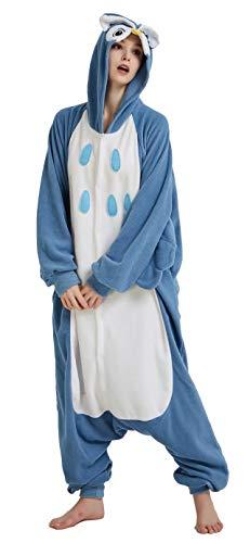 Dorliki Pijama Unisexo Trajes de Dormir Animal Disfraz Cosplay Halloween Navidad Mono con Capucha Búho L
