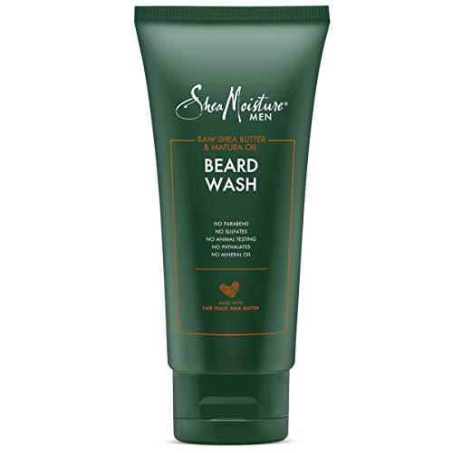 SheaMoisture Beard Wash for a Full Beard Maracuja Oil & Shea Butter to Deep Clean and Refresh Beards 6 oz
