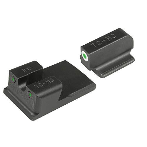 TRUGLO Tritium Pro Glow-in-The-Dark Handgun Night Sights for Ruger Pistols, Ruger SR9, SR9C, SR40, SR40C, SR45 Black