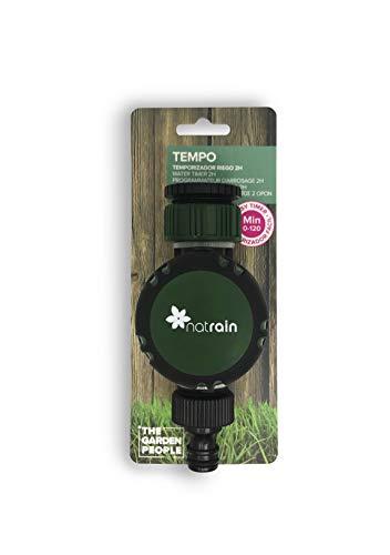 Natrain Temporizador de Riego, Verde, 8x6.5x15 cm, Tempo