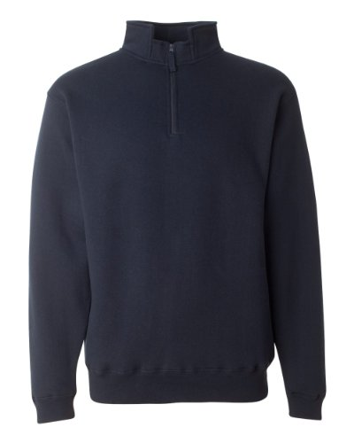 JA HEAVYWEIGHT 1/4 ZIP FLEECE (NAVY) (S)