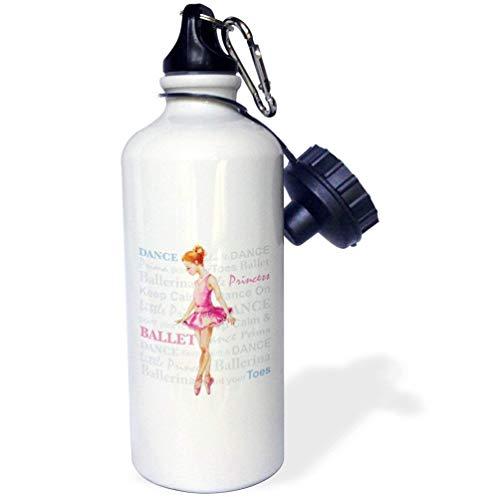 qidushop Little cute ballerina in rosa con scritta divertente in acciaio INOX borraccia sportiva per donne uomini bambini 595,3gram