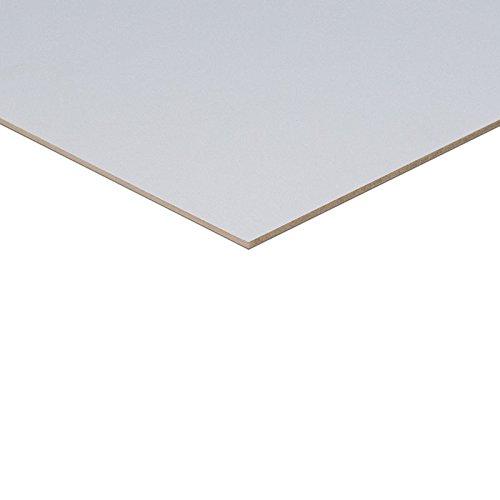 3mm HDF beidseitig weiß grundiert Platte 100x50 cm