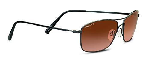 Serengeti Corleone Sunglasses Shiny Gunmetal Unisex-Adult Small/Medium