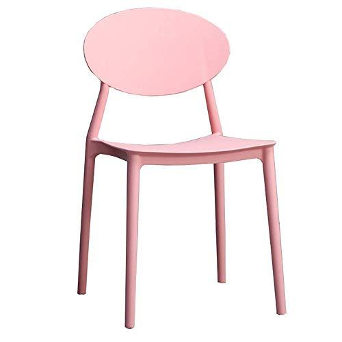 WSDSX Stuhl Modernes Design Esszimmerstühle Kunststoffstuhl Küche Frühstückshocker Geeignet für Restaurantbüro Lagergewicht 120 kg Mehrfarbig optional (Farbe: Schwarz)