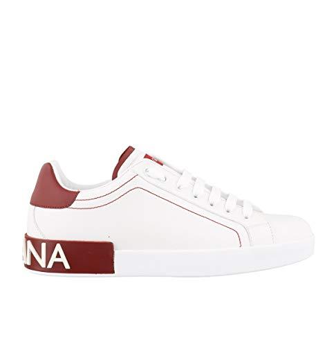 Luxury Fashion | Dolce E Gabbana Uomo CS1760AH52689926 Bianco Pelle Sneakers | Autunno-Inverno 20