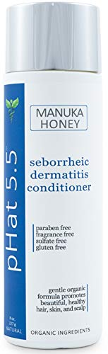 Seborrheic Dermatitis Hair Deep Conditioning Treatment with Manuka Honey, Coconut Oil and Aloe Vera - Dry & Itchy Scalp Treatment - Paraben Free and Sulfate - Gentle & Safe for Sensitive Skin (8 oz)
