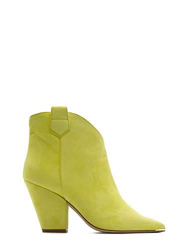 ALDO Luxury Fashion Castagna Damen FEDE2GIALLO Gelb Wildleder Stiefeletten | Frühling Sommer 20
