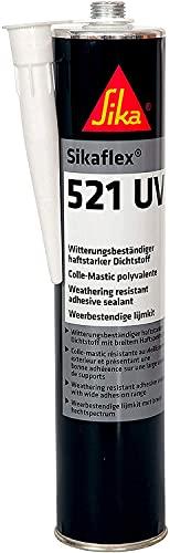 Sika flex 521 UV, Sigillante resistente agli agenti atmosferici privo di isocianati, adatto per interno ed esterno, indurisce con l'esposizione all'umidità atmosferica, 300 ml, Bianco