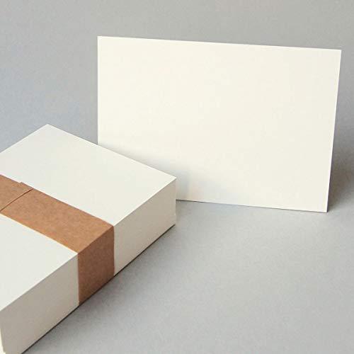 100 altweiße Blankokarten, Postkarte DIN A6 (stabiler Karton: Munken Pure 300 g/qm, komplett unbedruckt)