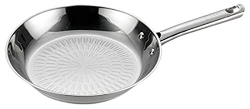 T-fal E76007 Performa Stainless Steel Dishwasher Safe Oven Safe Fry Pan Saute Pan Cookware, 12-Inch, Silver