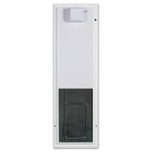 PlexiDor Performance Pet Doors Electronic Dog Door Large White Wall Mount