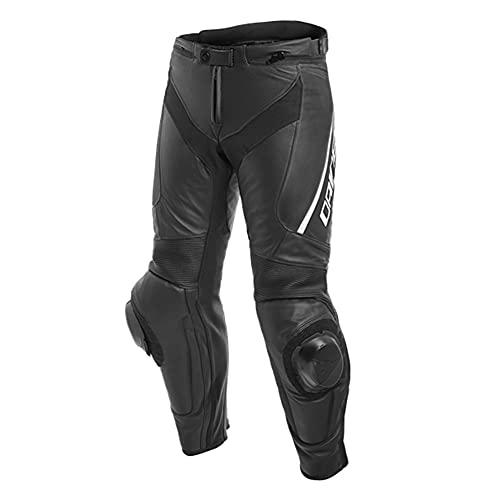 Dainese Motorradhose Delta 3 Lederhose perforiert schwarz/schwarz/weiß 56 (XL), Herren, Sportler, Ganzjährig