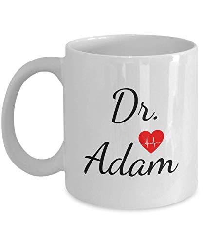 Taza de doctor personalizada - Taza de doctor personalizada con nombre - Taza de doctor personalizada - Regalos para doctor - Cumpleaños, aniversario, Navidad, mesa de doctor, cesta, regalo, mordaza,