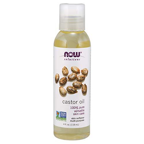 NOW Solutions, Castor Oil, 100% Pure Versatile Skin Care, Multi-Purpose Skin Softener, 4-Ounce