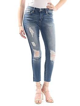 Jessica Simpson Women s Forever Roll Cuff Skinny Crop to Ankle Jean La Brea - Split Side Seam & Fray Hem 31
