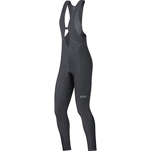GORE Wear Atmungsaktive Damen Trägerhose, Mit Sitzpolster, C3 Women Thermo Bib tights+, 38, Schwarz, 100329