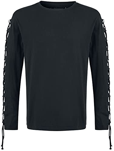 Gothicana by EMP Cut The Cord Homme T-Shirt Manches Longues Noir XXL