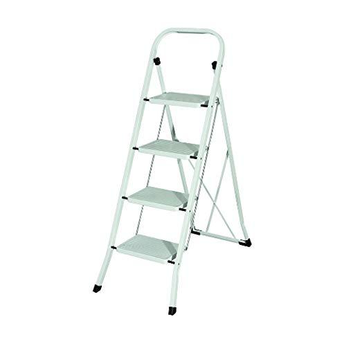 MAURER 23010104 Escalerilla Acero 4 Peldaños Uso Doméstico