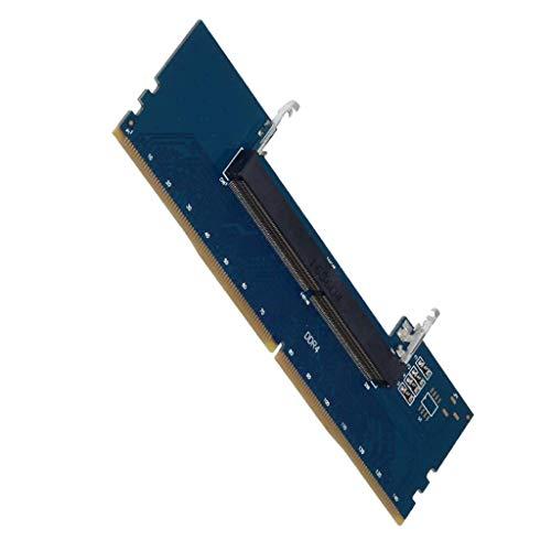Toygogo Laptop DDR4 RAM a PC de Escritorio Tarjeta Adaptadora de RAM SO DIMM a Convertidores DDR4