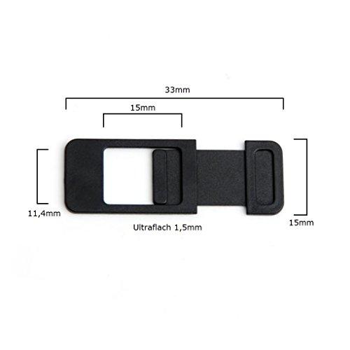 Webcam Cover Cámara Protectora de privacidad para ordenador portátil, PC, Tablet, Smartphone, TV, Espionaje Protección Funda Accesorios