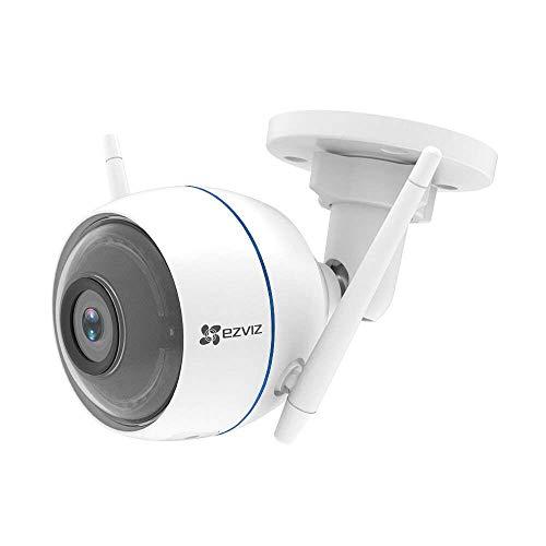 EZVIZ ezTube 720P HD Wifi 2.4Ghz WLAN-Kamera mit Nachtsicht, Kompatibel mit Amazon Alexa, Rundumleuchte und Sirene, Doppelte Externe WLAN-Antennen,2-Wege-Audio, Wasserdicht, Cloud-Service verfügbar