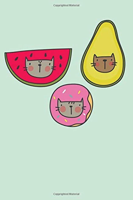 交流する感じ粒Cute Cat Notebook: Cat Avocado Journal Notebook Fun Watermelon Diary for Cat Lovers Kawaii Donut Notepad 200 Pages Lined Notepad 6x9