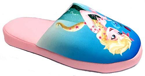 de fonseca Disney Elsa Pantofole Ciabatte Cotone Bimba MOD. Roma E G373 Rosa (Numeric_27)