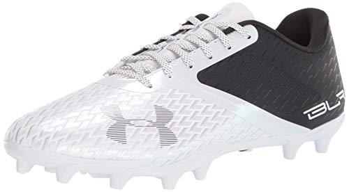 Under Armour Men's Blur Select Low MC Football Shoe, Black (001)/White, 15