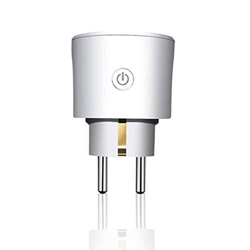 Funnyrunstore Alexa Interruptor de enchufe inteligente Wi-Fi Mini No se necesita concentrador Aplicación inalámbrica Dispositivos de control remoto Enchufe de EE. UU. Control Wi-Fi