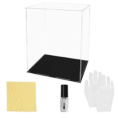 BELLE VOUS Vitrina Expositora de Acrílico Transparente – 25 x 20 x 30 cm - Expositor Metacrilato Grande a Prueba de Polvo para Figuras de Acción, Juguetes, Mini Figuras, Coleccionables y Modelos