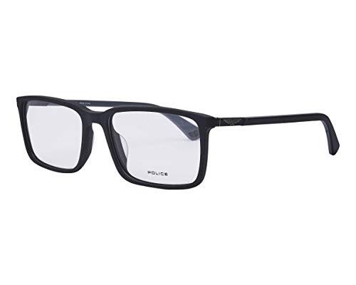 Police Duel 2 VPL-B-55 0703 - Gafas de sol (acetato, plástico), color negro mate