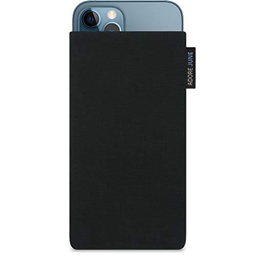Adore June Classic Negro Funda Compatible con iPhone 12 / iPhone 12 Pro, Material Resistente Efecto Limpiador de Pantalla
